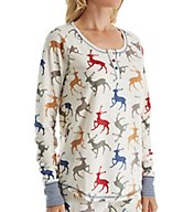PJ Salvage Oh Deer Me Velour Thermal Top RZOHLS